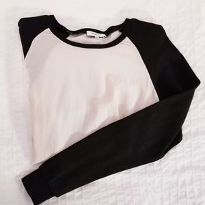 Babaton | Silk Blouse Sweatshirt Tan Black Top